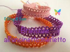 How to Flower Crochet Bracelets Crochet Art, Thread Crochet, Crochet Crafts, Crochet Doilies, Crochet Flowers, Crochet Bikini Pattern, Crochet Patterns, Crochet Bracelet, Crochet Earrings