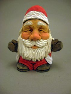 Santa Hugs wood carving by CarvingsbyTony on Etsy, $49.00
