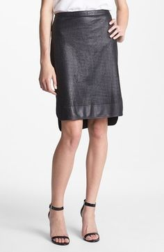 MADEMOD | Trouvé Perforated Leather Skirt