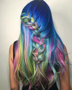 Chasin' Waterfalls  #braids #colorfulhair #hairstyle #haircolor #hair