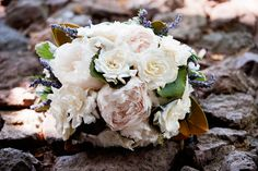 Beautiful bouquet - Gardenia, Peony, Lavender, and Magnolia Leaves.