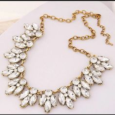 Crystal statement necklace Brand new very shiny high quality statement necklace. Bundle and save! Get 15% off when you buy 3 items! Jewelry Necklaces