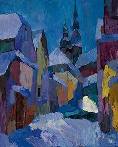 Larisa Aukon, Midnight Sonnete by Larisa Aukon Oil ~ 30 x 24