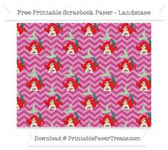 FreeMulberry Purple Chevron Large Ariel Pattern Paper - The Little Mermaid