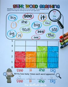 Sight Word Graphing! Learning sight words AND practicing graphing skills!