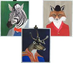 Costumed Animal Prints. love the fox!