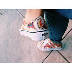 Stephanie Liu of Honey & Silk wearing Liberty x Vans shoes