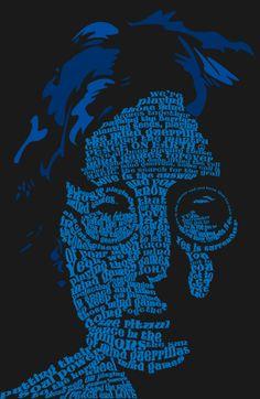 john lennon typography