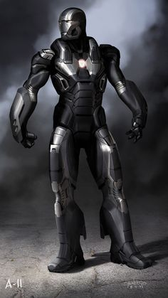 Early War Machine Concept - Iron Man 3 concept art by Phil Saunders