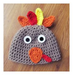 Baby hat-Handcrafted Turkey Hat by BeanandBirdHandmade on Etsy
