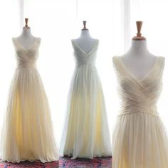 2016 Cheap Bridesmaid Dresses A Line V Neck Backless Pleat Chiffon Long Wedding Party Gowns Graduation Dresses Junior Bridesmaid Dresses Chiffon Little Girl Bridesmaid Dresses From Queenwedding, $58.7| Dhgate.Com