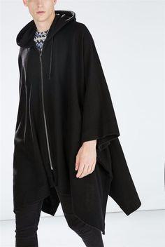New Fashion Gothic Clothing British Style Fashion Mens Wool Cloak Cape Long…