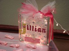 Glass Block Light Personalized by Texasmommy32 on Etsy, $25.00