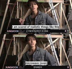 Jungkook is scared of microwaves