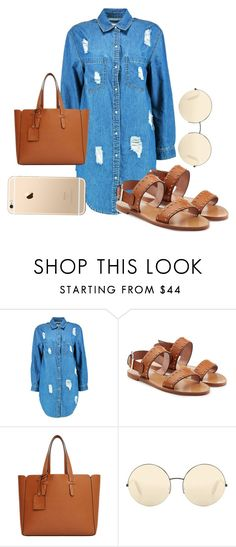 """""""demin oversized shirt dress"""" by princesszaza100 on Polyvore featuring Boohoo, RED Valentino, Violeta by Mango and Victoria Beckham"""