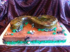 Snake cake (Full sheet cake) Untitled, via Flickr.