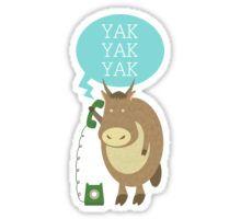 Yak on the Phone Sticker