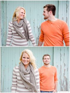 Columbus Ohio Engagement Session by MAUI CREATIVE. mauicreative.com  Short North Columbus, OSU.   Orange and Gray Outfit