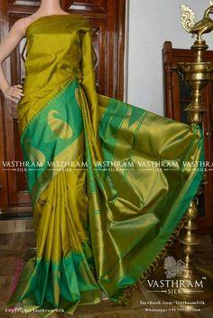 Soft silk sarees - buy the latest collection of soft silk sarees. check new and trendy wears for women. Mysore soft silk sarees and Kanjivaram soft silk sarees. Soft Silk Sarees, Cotton Saree, Beautiful Saree, Beautiful Outfits, Black Leather Pencil Skirt, Wedding Silk Saree, Green Saree, Kanchipuram Saree, Elegant Saree