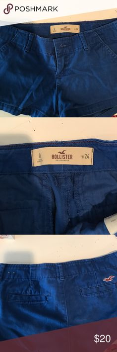 Cute blue Hollister shorts These shorts have gotten too small on me but have been hardly worn! Feel free to make an offer! Hollister Shorts Skorts