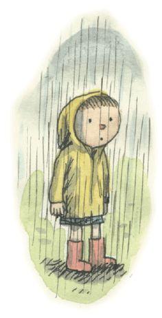 Clem in the rain
