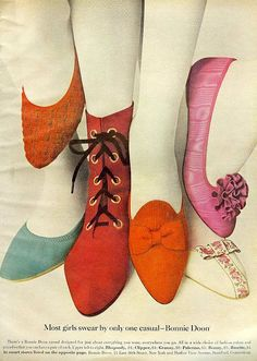 From Mademoiselle, September 1966. I had the pink ones in black.....