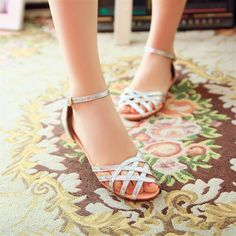 Oversized 33-48 New 2014 Summer shoes arrival fashion  sweet lady style Casual simple 3Color Flat women sandal women shoes
