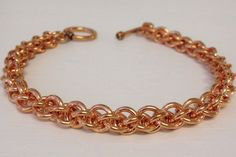 Copper Chainmail Bracelet, Copper Spiral Bracelet, Chainmaille Jewelry, JPL  Chainmail Bracelet, Handmade chain mail, Healing Copper Gift by JCLeecollection on Etsy