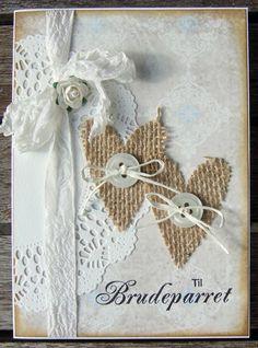 Ravn Design: Shabby chic bryllupskort