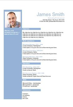 Helvetica Blue Layout Word CV template - How to write a CV