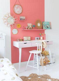 S big girl room в 2019 г. Bedroom Table, Diy Home Decor Bedroom, Bedroom Ideas, Home Office Design, Home Office Decor, Office Desk, Girl Desk, Little Girl Rooms, Girls Bedroom