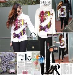 """""""Celebrity Style: Rihanna (10/02/2013)"""" by lulys2nano ❤ liked on Polyvore"""
