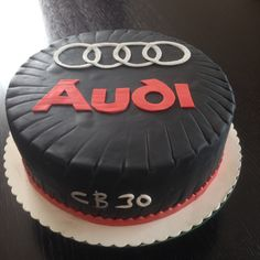 Audi Cake Audi Cake, Audi Torte, Ferrari Cake, Black Audi, Black Cars, 30th Birthday, Birthday Cake, Grand Opening, Cake Decorating
