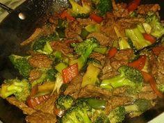 Carne com brócolis