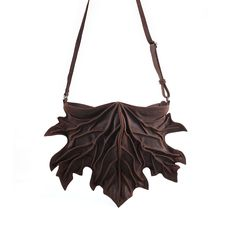 Stunning New Maple Leaf Bag in Brown Leather from Bylin at Podarok
