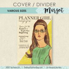 This printable is designed by The Reset Girl and is intended to be used as a planner/notebook cover or a divider for your planner.