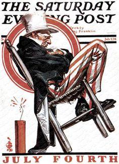 Sleeping Uncle Sam  July 5, 1924Get this framed at Art.com