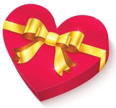 Heart-shaped gift emoticon for Facebook
