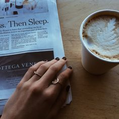 Morning coffee and a good read.