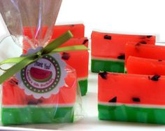 Watermelon Soap Party Favors ♡ Naughty or Nice Pretty Patio Party #KINKYPrettyPatio