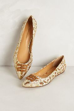 These are kinda cute.....Skipperdee Flats / Anthropologie
