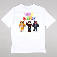 Stampy-Squid-and-DanTDM-T-shirt-Girls-Boys-Gaming-Age-5-14-years-THE-GANG