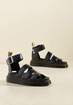 Flatform Performance Vegan Sandal in Black