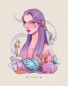 Anime Zodiac, Zodiac Art, Zodiac Signs, 12 Zodiac, Cute Girl Drawing, Cute Drawings, Aries Aesthetic, Art Folder, Pretty Art