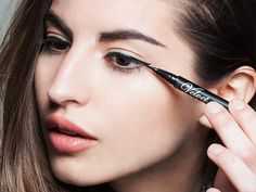 Smudging isn't a problem with this quick-drying makeup. And your precision lines wash off easily at the end of the day.