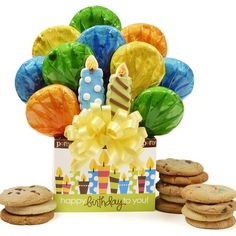 Birthday Candles Cookie Bouquet Gift Box – MNM Gifts