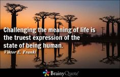Challenging the meaning of life is the truest expression of the state of being human. - Viktor E. Frankl