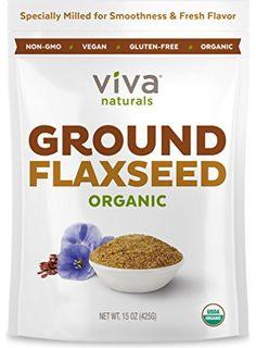 Viva Naturals Organic Ground Flax Seed, 15 oz