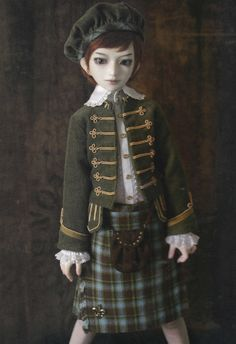 1/4 MSD BJD Unoa Doll Boy Scottish Highland Dress by DollyAndPaws, $4.50