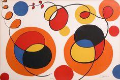 Alexander Calder [CIRCLES AND SPIRALS]  Color lit